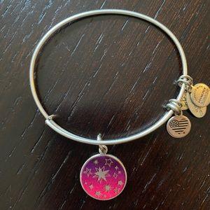 Alex and Ani Silver Bracelet with Charm